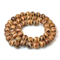 AB0671 New arrival wave line pattern Tibetan agate beads,round Dzi agate beads in wholesale
