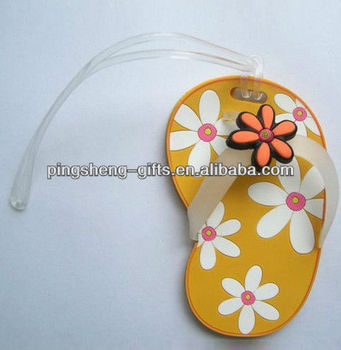 soft pvc rubber baggage card