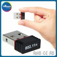 150mbps Mini Wireless USB Wifi Adapter Lan Card 802.11n/g/b Wlan PC Wifi Receiver External Wi-Fi Dongle Antenna Wi Fi For Laptop