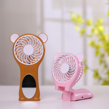 Hand Held Outdoor Fans Air Cooler with Mirror Portable Air Conditioning for Home Rechargeable Mini Ventilador USB Fan Table Fan