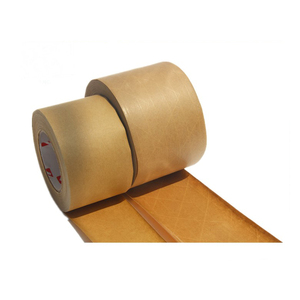 High Quality Custom Printed Self Adhesive Single Side Brown Kraft Paper Roll