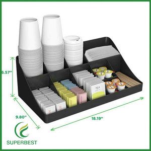 professional manufacturer acrylic commercial coffee condiment organizer