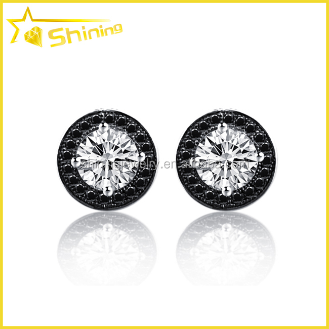 cheap iced out cz wholsale micro pave cubic zirconia mens hip hop earrings