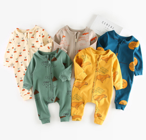 Wholesale good quality baby clothing long sleeve jumpsuit for newborn