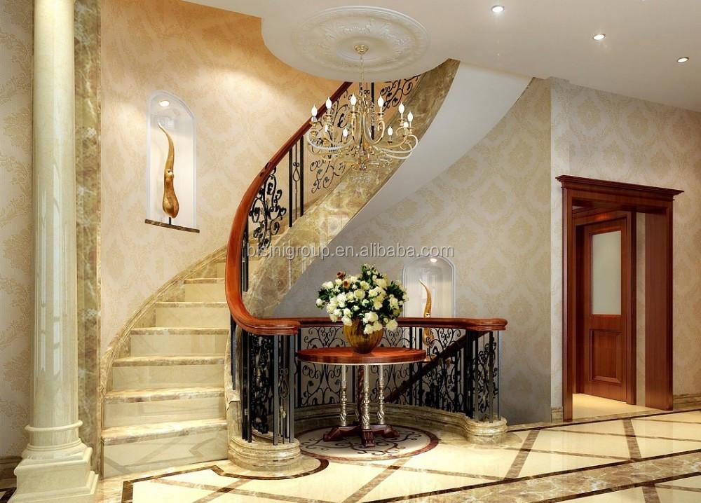 Européenne D\'escalier Intérieur Pour Villa De Luxe Noble Maison Design  D\'intérieur Plan Bf11-06303m - Buy Conception D\'escalier De Rendu ...