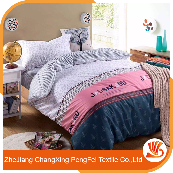 Fancy polyester customized duvet cover and bedding set
