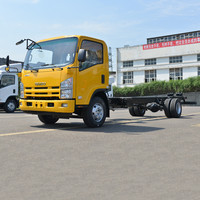 Factory direct ISUZU cargo truck and chassis with different color option brand single double cab Medium trucks Quality Assurance