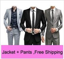 Moderní pánské kalhoty a sako z Aliexpress