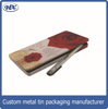 Storage metal can rectangular tin can for pen case