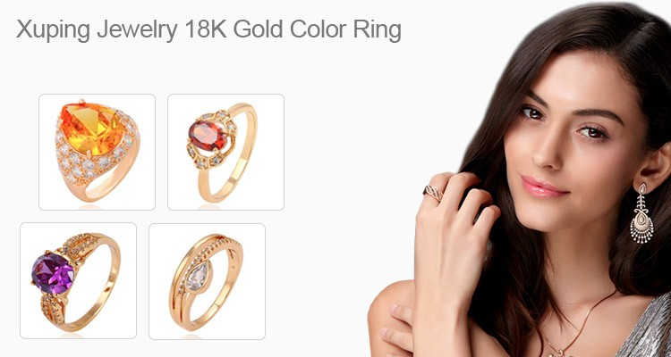 15430 xuping jewelry  fashion  modern design noble 18k gold color pearl ring