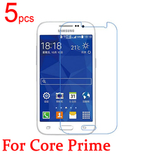 5pcs Ultra Clear LCD Screen Protector Film Cover For Samsung  Galaxy G3609 G3606 G3608  Protective Film  +  cloth