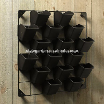 Vertical Garden Pot Plastic hanging green living vertical wall mounted flower plant plastic hanging green living vertical wall mounted flower plant vertical garden planter pot workwithnaturefo