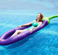 Dewasa Pantai Bed Inflatable <span class=keywords><strong>Terong</strong></span> Ungu <span class=keywords><strong>Terong</strong></span> Pool Float