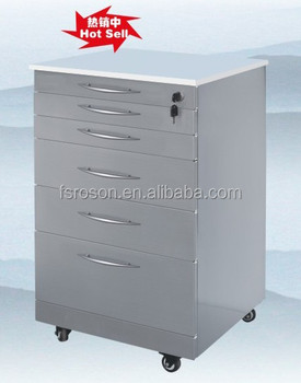 Stainless Steel Mobile Dental Cabinet For Dental Clinic