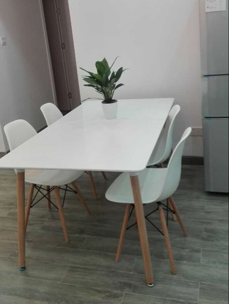 Minimalist Modern Design Dining Furniture Set 1 Table 4 Chairs Plastic Chair Wooden Table Dining Set Price Is 1 Pc Not For Set Chair Plastic Chair Wooddesigner Plastic Chairs Aliexpress