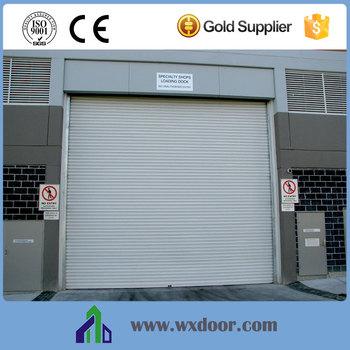 Windproof steel roll up warehouse door /gate big size steel door & Windproof Steel Roll Up Warehouse Door /gate Big Size Steel Door ...