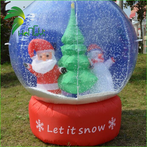 Cheap Customized Large Christmas Inflatable Snow Globe Ball For Festival Decoration
