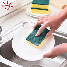 OEM cheap sponge scouring pad kitchen cleaning sponge scourer