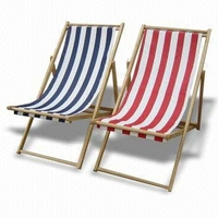 W-c-1510 Beach Chair Solid Wood Lounge Lawn Chair Portable Stylish ...