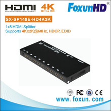 SHUNXUN 2015 new OEM SX-SP148E-HD4Kx2K 3D EDID 1080P HD 8 Port AV Audio Video HDMI 2.0 HDCP, EDID