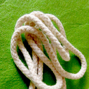 YQ-RY65 Soft Off white Braided 6mm thick cotton string for hoodies