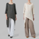 Hot Sales Fashion Women Linen Asymmetrical Tunic,Indian Style Tunic Tops Wholesale Clothing