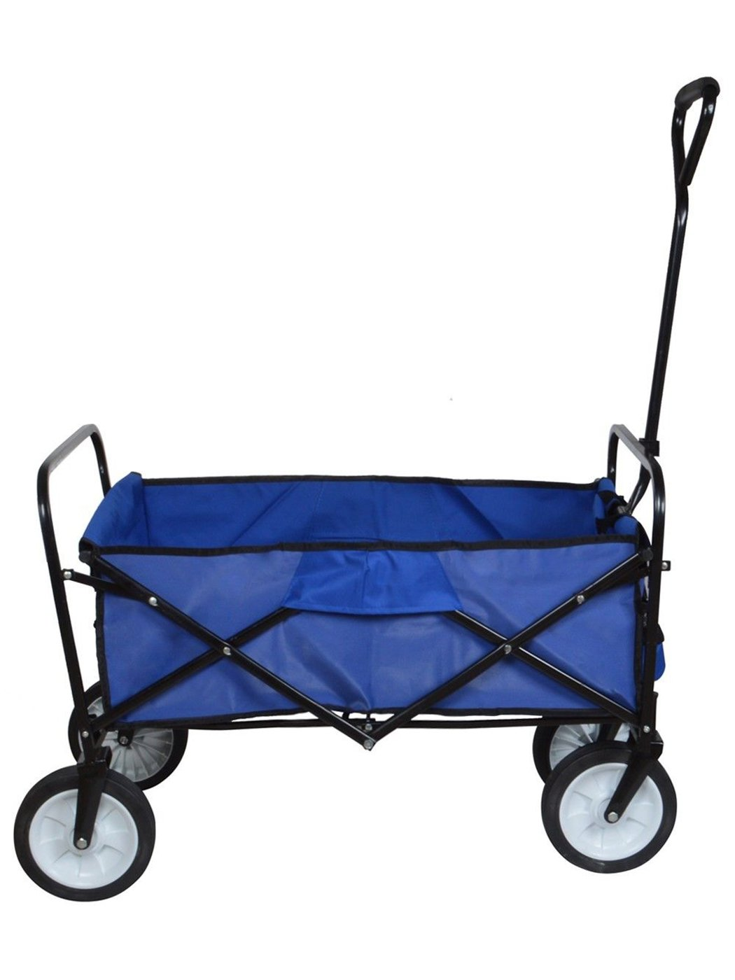 Gracelove Sports Collapsible Folding Utility Wagon Collapsible Garden Cart  Beach Blue