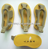 Eco-friendly-sexy 3D soft shoes shape pvc keychain for promotion gifts