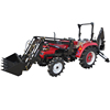 Newest CE approved high quality mini tractor with front end loader and backhoe
