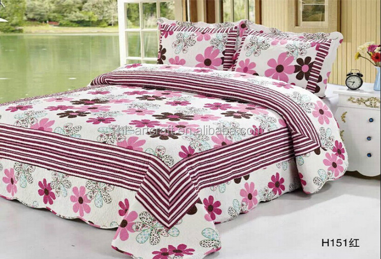 Elegant Quany Reactive Printed Colorful Cotton Air Conditioned Bed Sheet