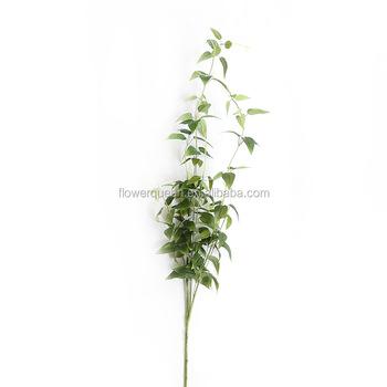 11 Braches Flower Artificial Plant Leaves Online Silk Acacia Green Tea Foliage Bulk