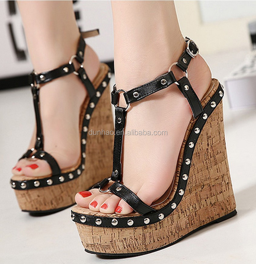 50cc6717d674 2016 Comfortable High Platform Ankle Strap Wedge Sandals - Buy ...
