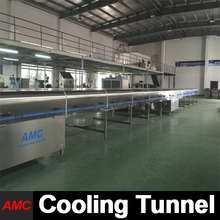 Cost Savings Most Durable Quick Changeover the line of the productions Cooling Tunnel