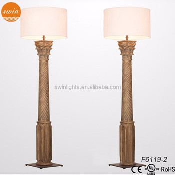 Hand carved corinthian column floor lamp wood light rh f6119 2 buy hand carved corinthian column floor lamp wood light rh f6119 2 aloadofball Images