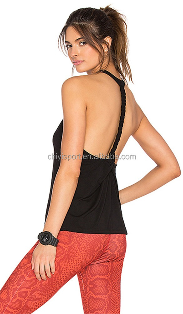 Recycled Fabric Braided Custom Ladies Gym Active Tank Wear