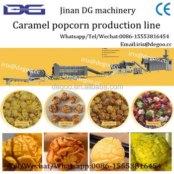 Hot Air Health Mushroom Caramel Popcorn Maker 100kg/h
