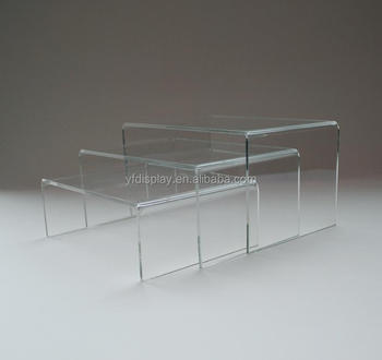 U Forme Reglable En Plexiglas Transparent Cafe Table De Salle A