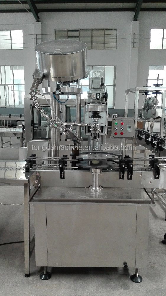 screw cap bottle capper, rotary capper, aluminium screw sealing machine