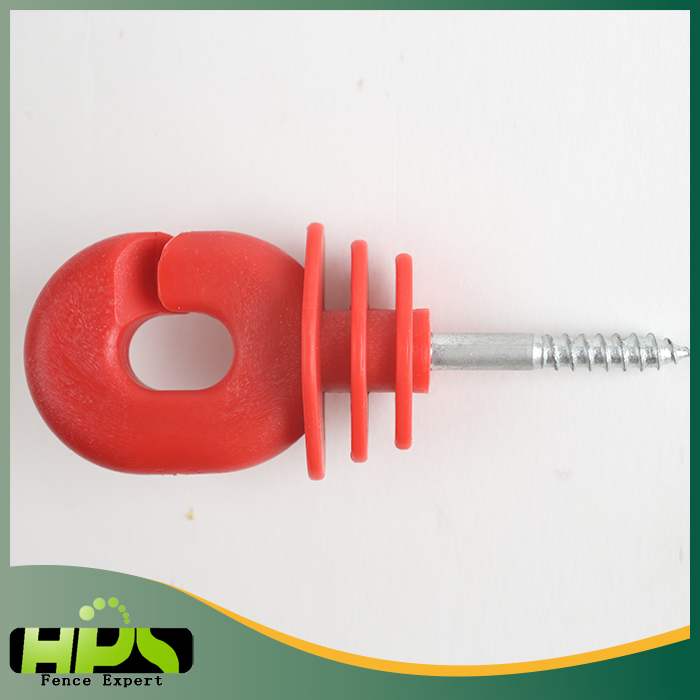 hot sell waterproof electric fence oval shape screw-in ring insulators for wood post