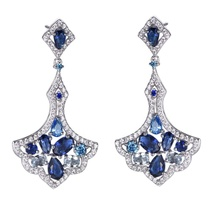2019 Best 잘 팔리는 Gorgeous Bridal Gift Earring 여자 CZ 눈물 매달려 925 Silver Earrings