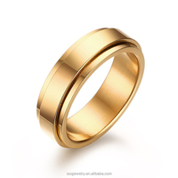 Spinner IP gold plating high polished highlight the noble temperament jewelry ring
