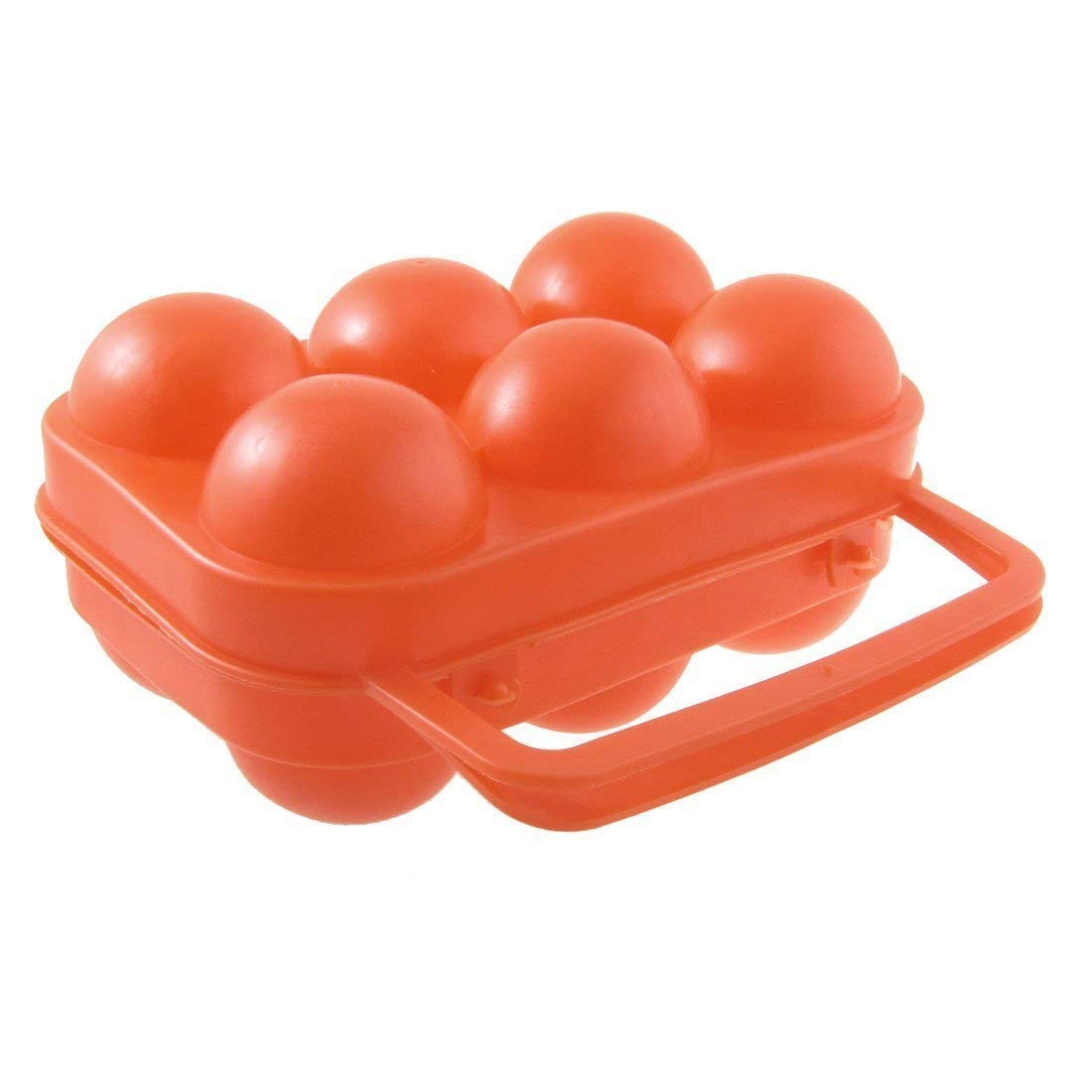 TOOGOO(R) Outdoor Camping Orange Red Folding Plastic Egg Tray Box Case