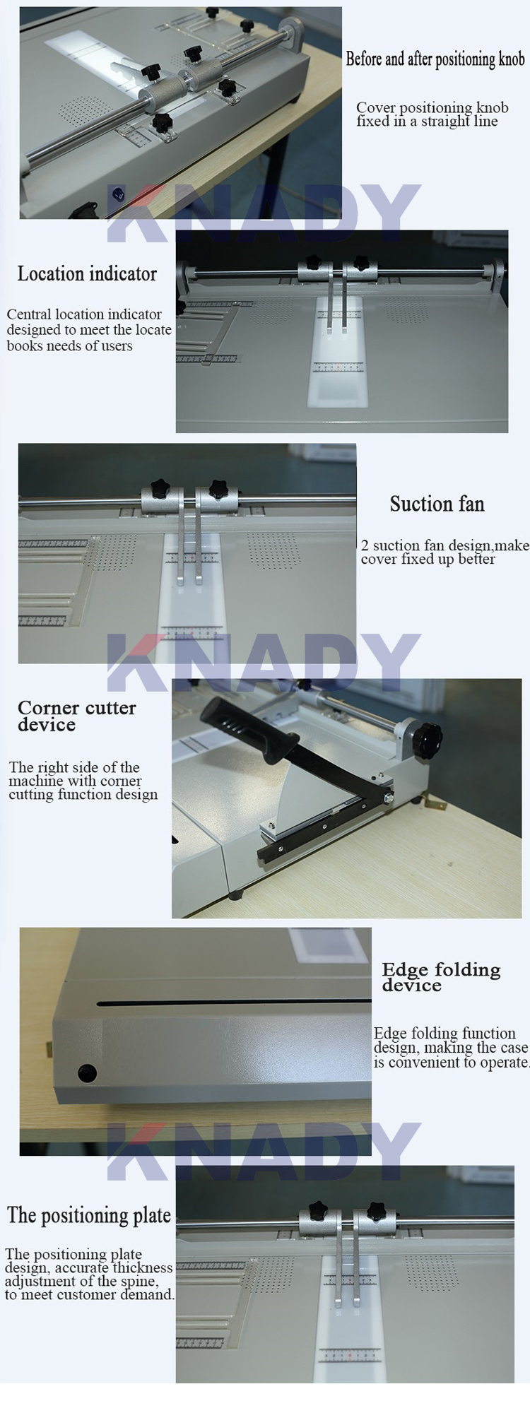 Elektrische hardcover boek cover case maker making machine