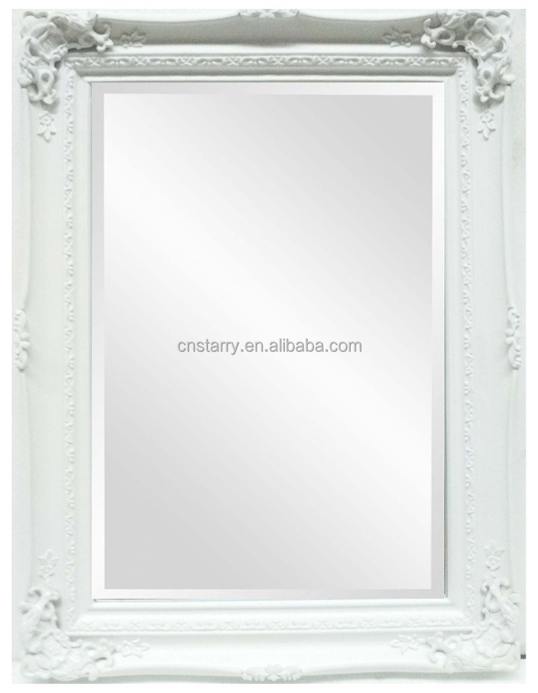 Hand Carved Wood Antique Mirror Frames,Picture Frame With Bevelled ...