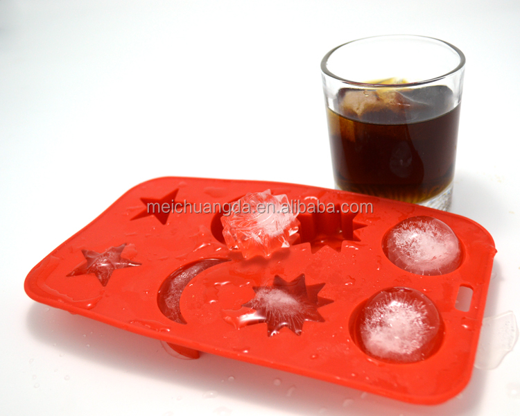 Easy Release Moon Star Shape Ice Cube Tray