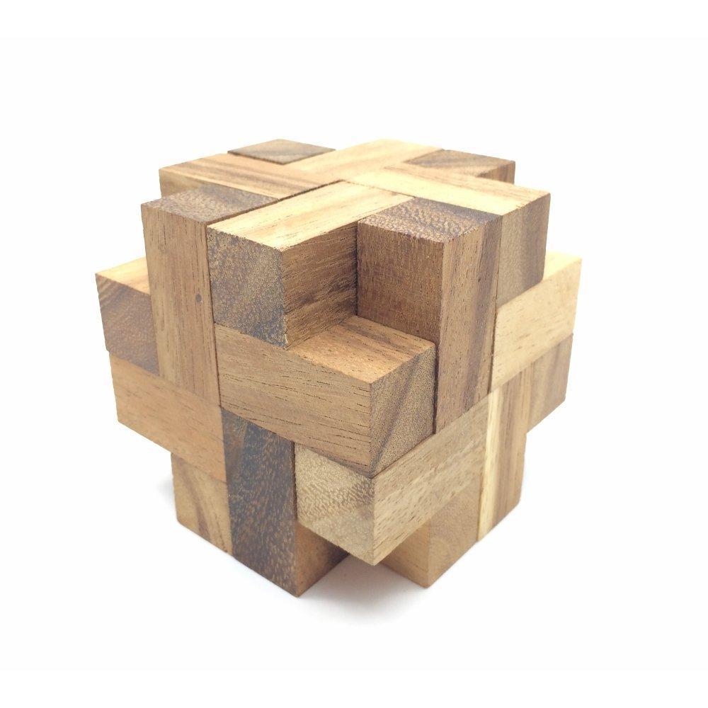Brain Storm Cube Wooden Brainteaser Puzzle