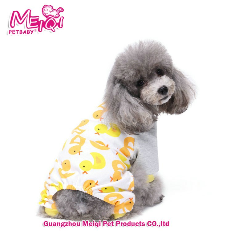 Cartoon Pattern dog Clothing Pet Pajamas for Small Dog