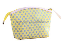 New fashion design quality dots cosmetic bags cute makeup clutch travel storage pack washing package coin purse