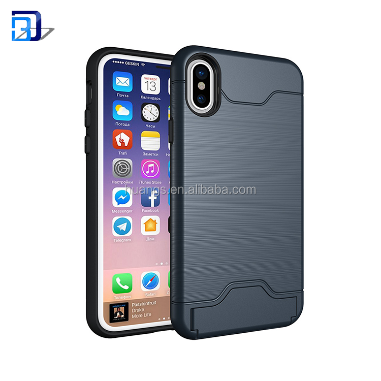 Wholesale Custom Bubble Bracket Pack Reduce Stress Card Solt Cell Phone Case For iPhone X Case