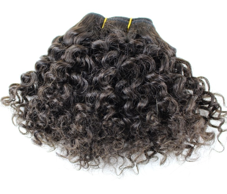 Cheap factory directly deep wave kinky curly hair weft for black brown chocolate women